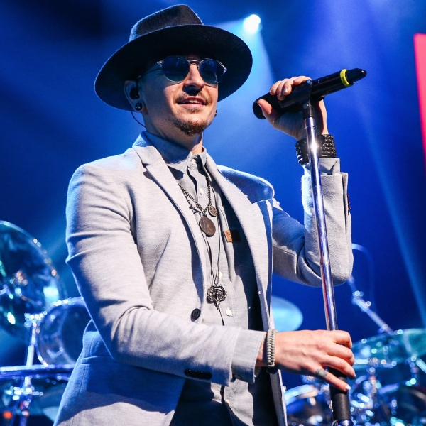 Chester Bennington of Linkin Park performs on stage at the iHeartRadio Album Release Party presented by State Farm at the iHeartRadio Theater Los Angeles on May 22, 2017 in Burbank. (Credit: Rich Fury/Getty Images for iHeartMedia)