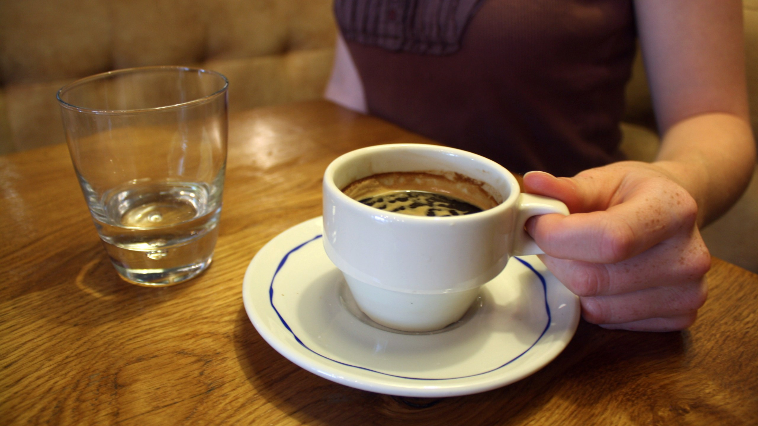 A cup of coffee is pictured on July 5, 2012, in a Paris café. (Credit: Ana Arevalo / AFP / Getty Images)