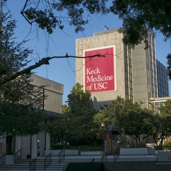 This photo shows the Keck School of Medicine at the University of Southern California. (Robert Gauthier/Los Angeles Times)