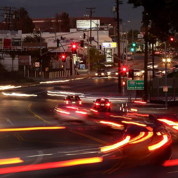 The part of the 710 Freeway that ends at Alhambra's Valley Boulevard can be seen in this image. (Credit: Luis Sinco / Los Angeles Times)