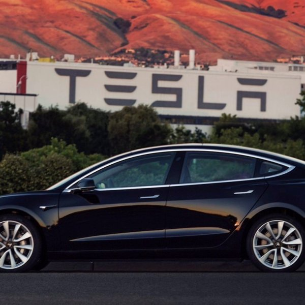 The first production of the much anticipated Model 3 from Tesla is seen in a snapshot shared by the company's CEO, Elon Musk.