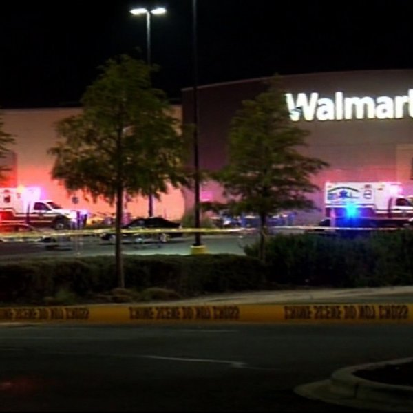 A phone call from a Walmart employee led to the discovery of eight bodies and 30 people severely injured in the back of a tractor-trailer in Texas on July 23, 2017. (Credit: Henry Valdez via CNN)