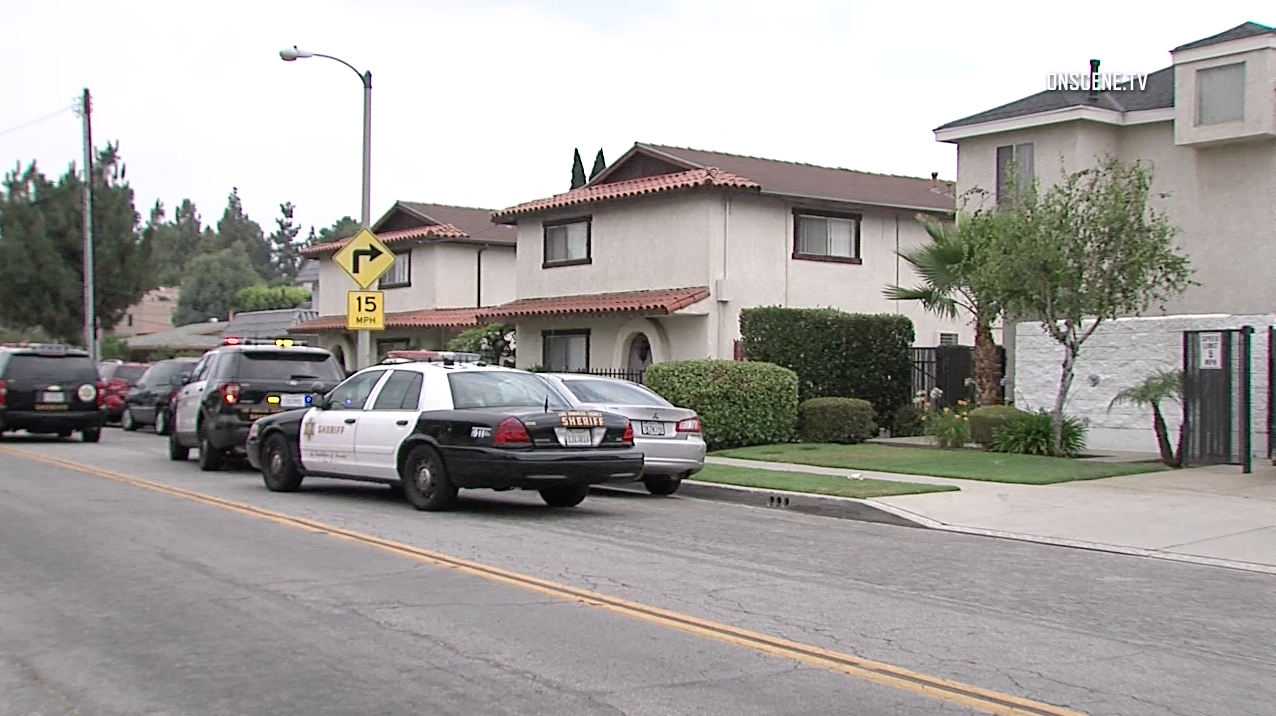 Authorities respond to a shooting in South Whittier on July 1, 2017. (Credit: OnScene.TV)