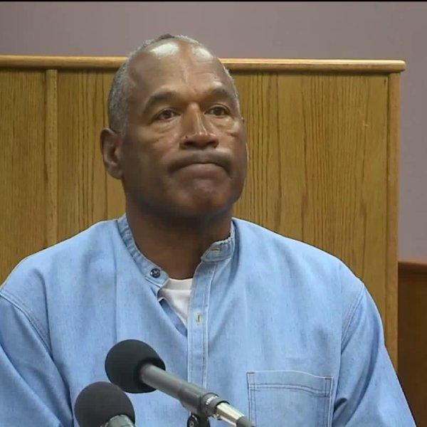 O.J. Simpson listens during a parole hearing on July 20, 2017. (Credit: Pool)
