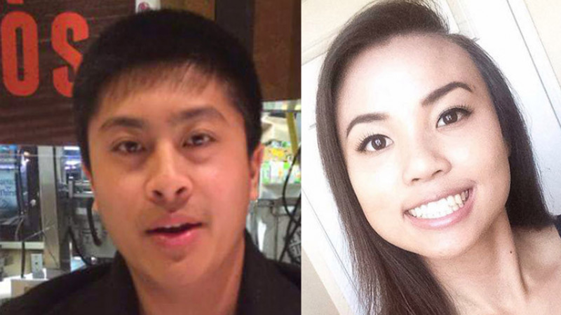 Rachel Nguyen, right, and Joseph Orbeso are seen in photos posted to a fundraising page.