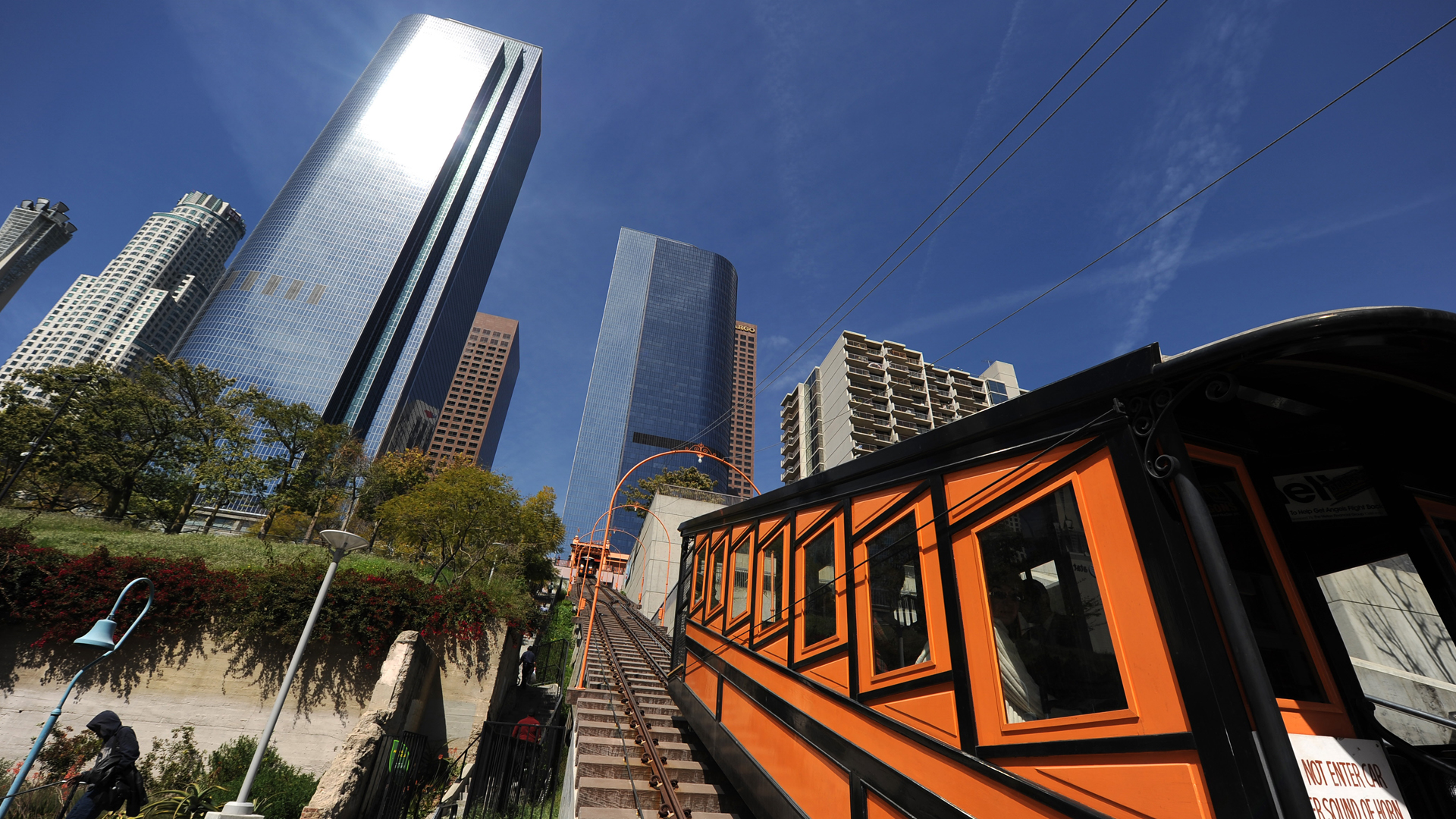 The Angels Flight Railway is seen in 2010. (Robyn Beck/ AFP/Getty Images) Images)