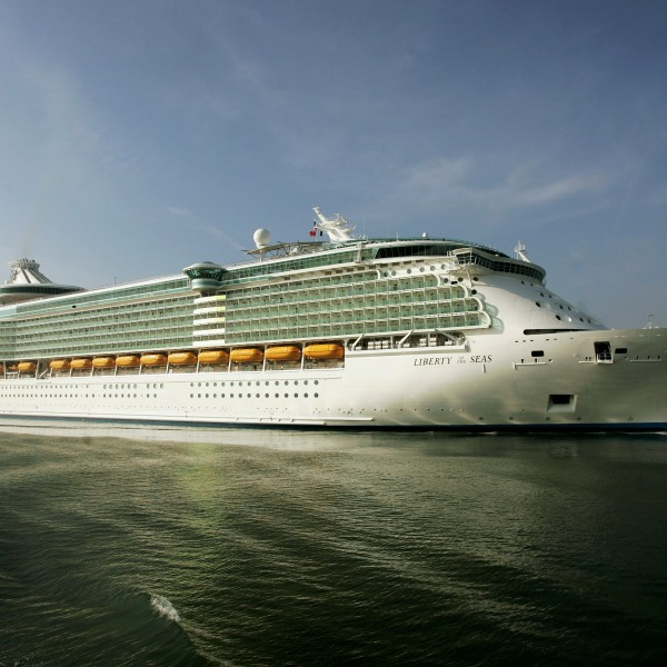 A Royal Caribbean cruise ship is seen in a file photo. (Credit: Bruno Vincent/Getty Images)