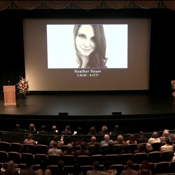 A memorial service was held for Heather Heyer on Aug. 16, 2017. (Credit: CNN)
