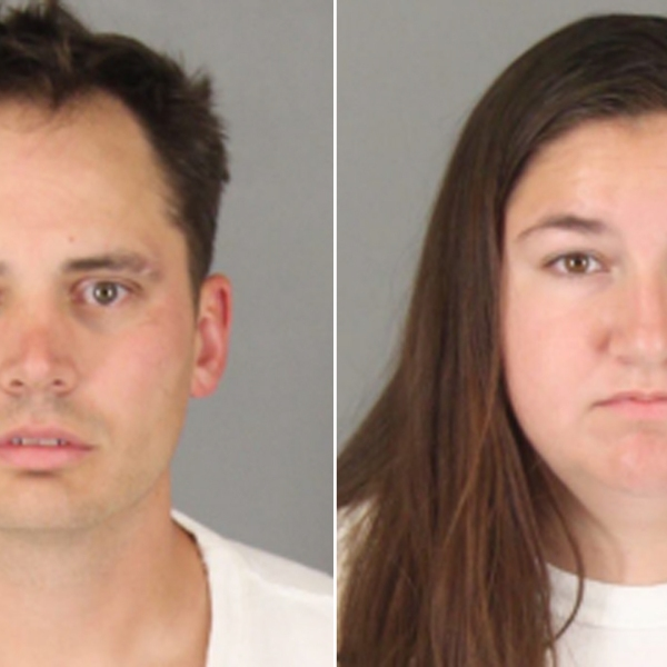 Benjamin Whitten, left, and Jeryn Johnson, right, are seen in booking photos released by Murrieta police.