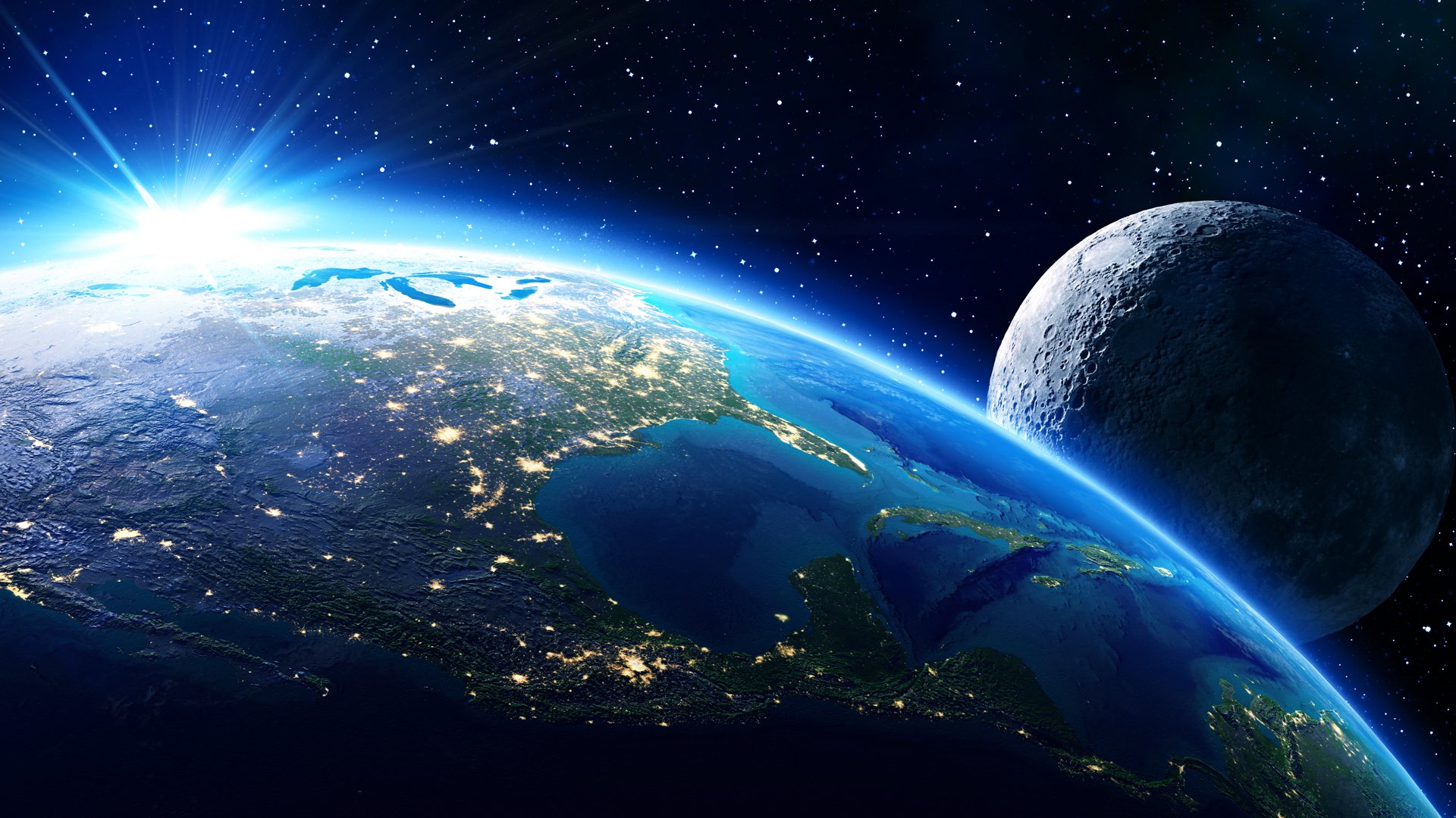 North America and the moon are seen in this file photo. (Credit: RomoloTavani / iStock-Getty Images Plus)