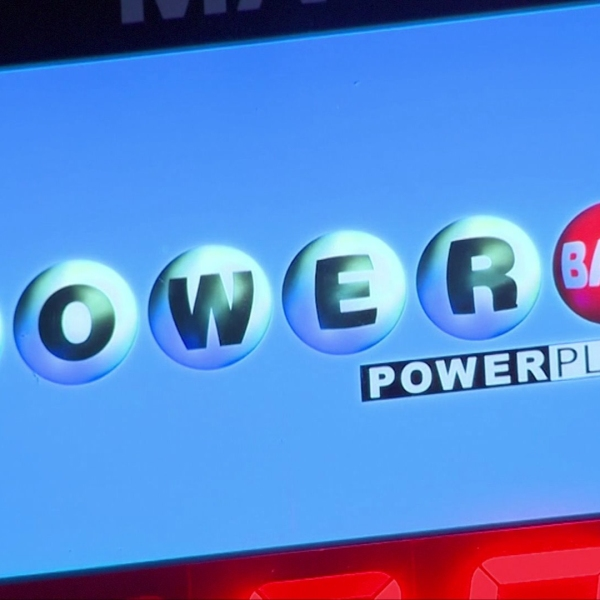 The Powerball logo is seen in a file photo.