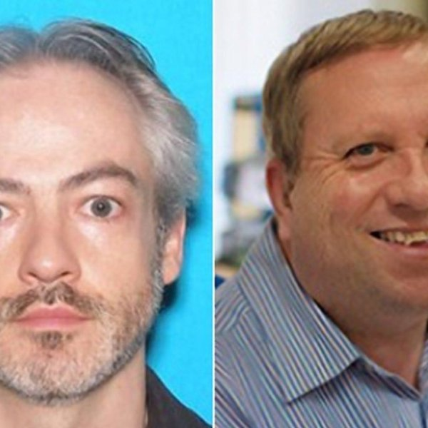 Wyndham Lathem, 42, and Andrew Warren, 56, are being sought by Chicago police after a 30-year-old man was found slain July 27 in a Chicago apartment. (Credit: Chicago Police Department)