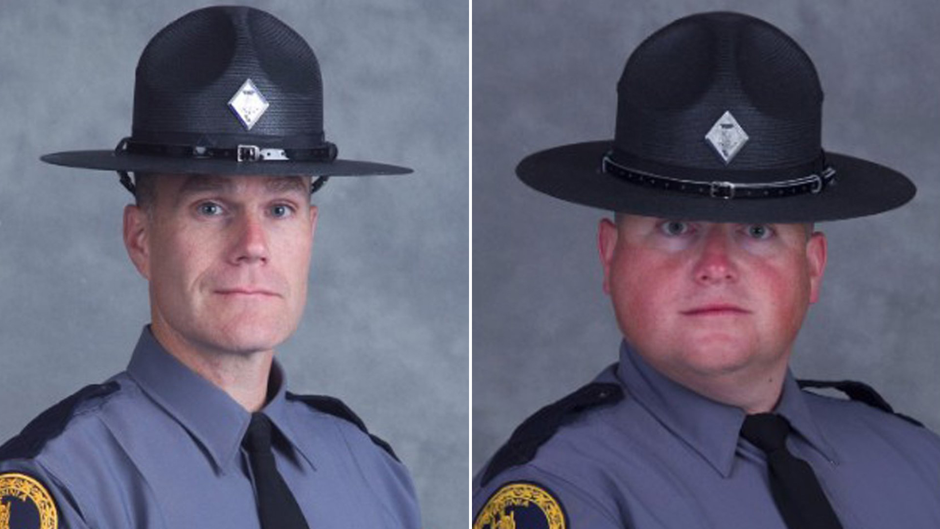 Virginia State Police Lt. H. Jay Cullen, left, and Trooper-Pilot Berke M.M. Bates are seen in photos released by the Virginia State Police on Aug. 12, 2017.