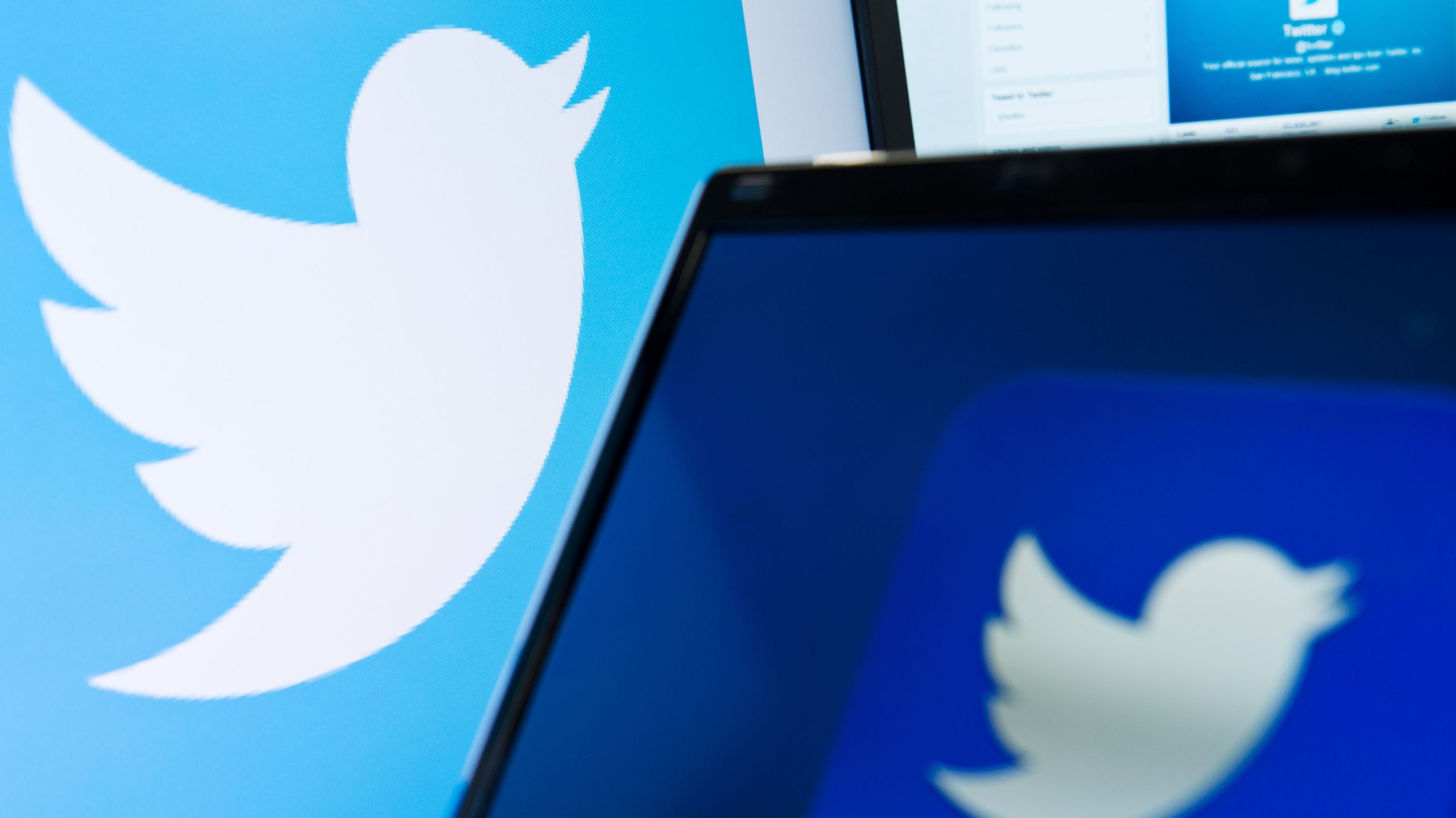 The logo of social networking website Twitter is displayed on a computer screen in a file photo. (Credit: Leon Neal / AFP / Getty Images)
