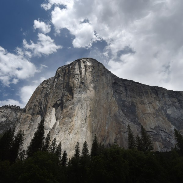 The El Capitan monolith in the Yosemite National Park on June 4, 2015. (Credit: MARK RALSTON/AFP/Getty Images)
