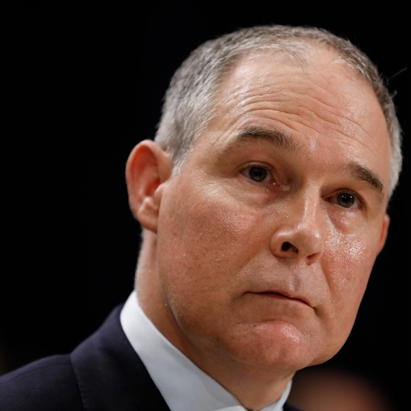 Then-Oklahoma Attorney General Scott Pruitt testifies during his confirmation hearing to lead the Environmental Protection Agency on Capitol Hill, Jan. 18, 2017. (Credit: Aaron P. Bernstein / Getty Images)