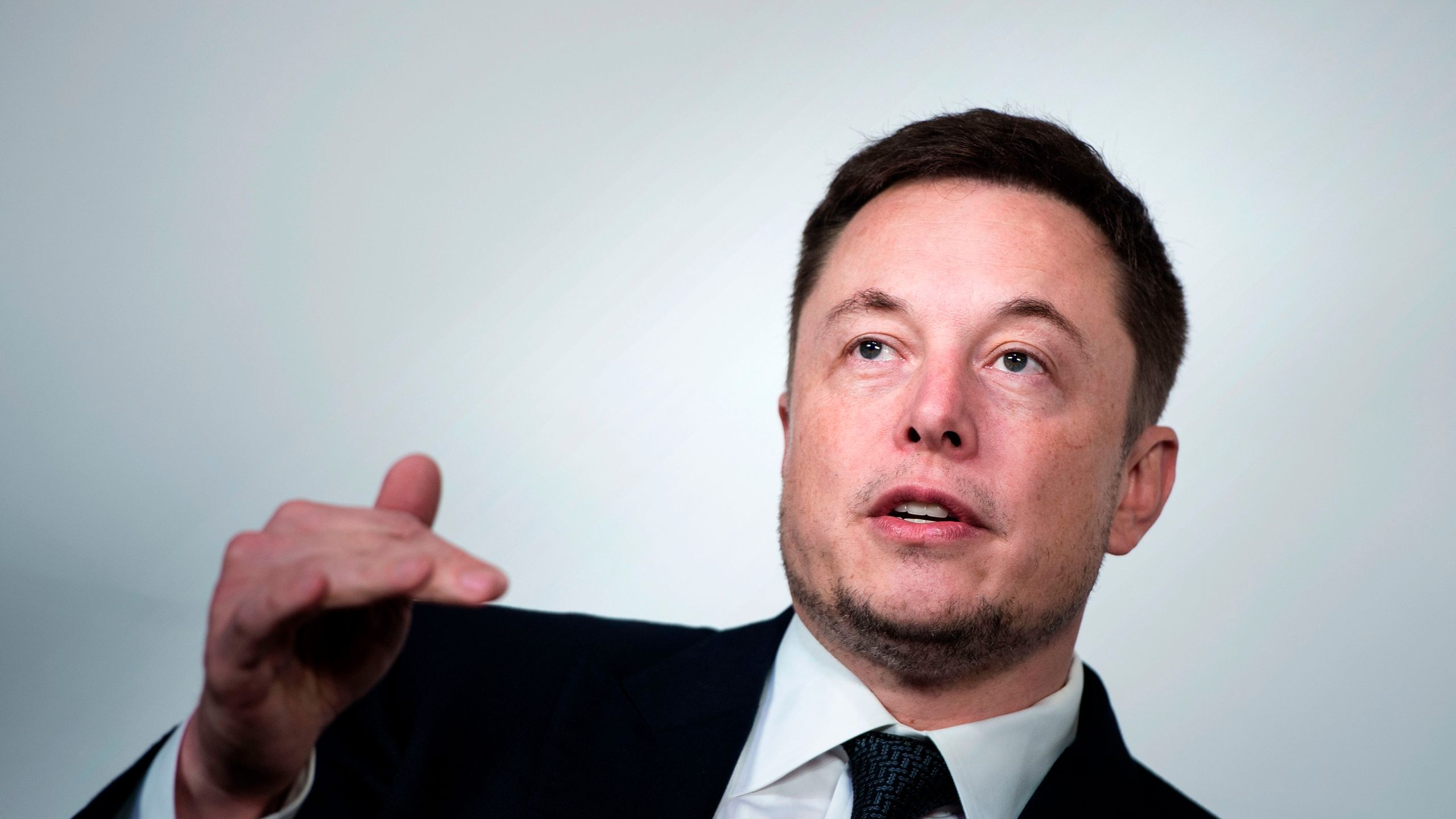 Elon Musk, CEO of SpaceX and Tesla, speaks during the International Space Station Research and Development Conference at the Omni Shoreham Hotel July 19, 2017 in Washington, DC. (Credit: BRENDAN SMIALOWSKI/AFP/Getty Images)