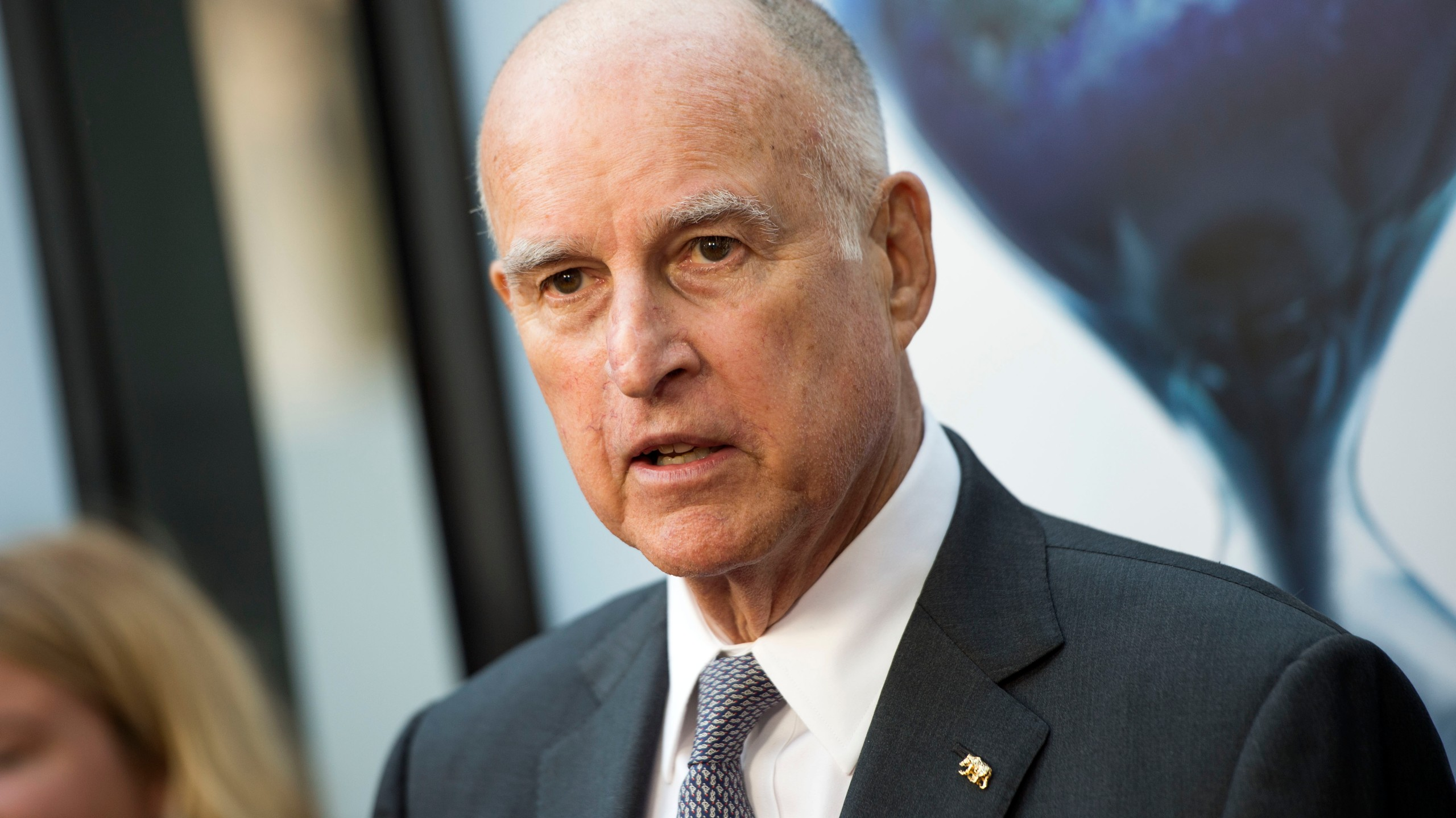 "Governor of California Jerry Brown attends the Los Angeles Special Screening of ""An Inconvenient Sequel: Truth to Power"" at the Arclight Hollywood, on July 25, 2017. (Credit: Valerie Macon/AFP/Getty Images)"
