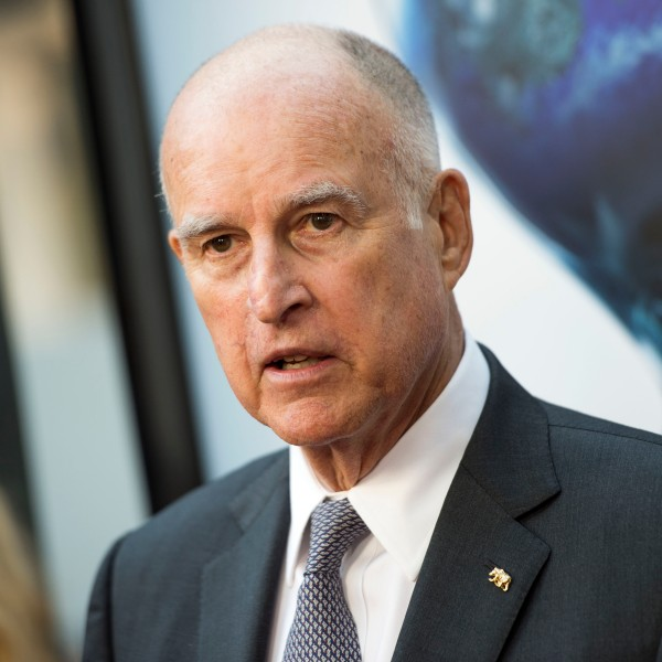 """Governor of California Jerry Brown attends the Los Angeles Special Screening of """"An Inconvenient Sequel: Truth to Power"""" at the Arclight Hollywood, on July 25, 2017. (Credit: Valerie Macon/AFP/Getty Images)"""