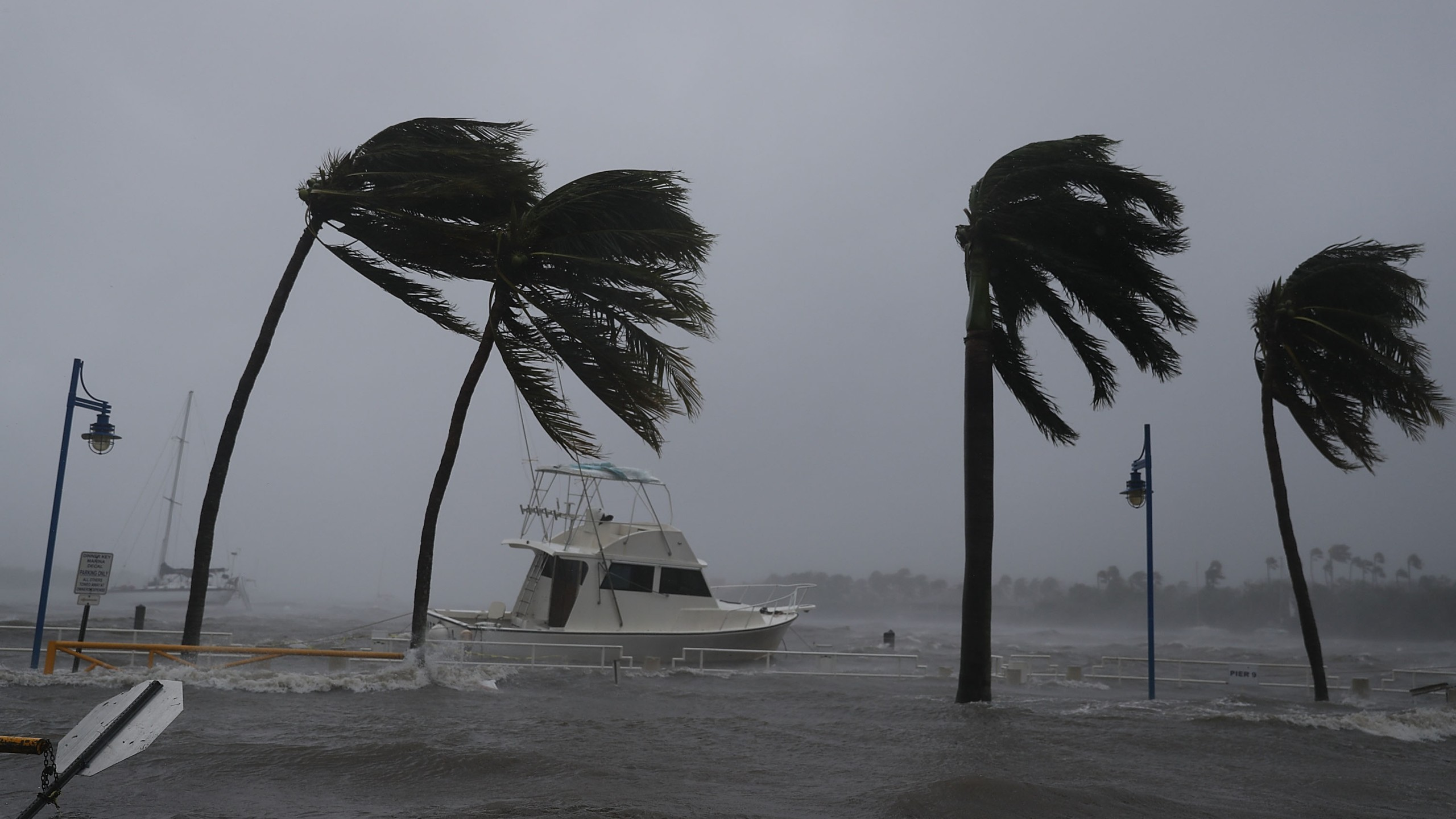 Boats ride out Hurricane Irma in Miami, Florida on Sept. 10, 2017. (Credit: Joe Raedle/Getty Images)