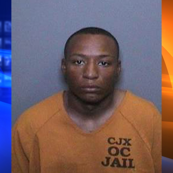 Jerel Boykins is seen in a booking photo released by the Orange County Sheriff's Department.