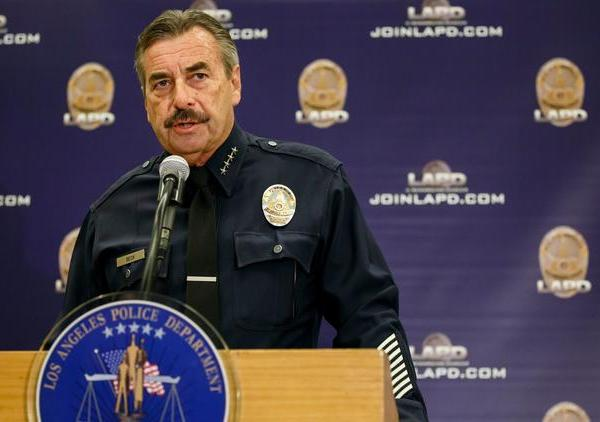 LAPD Chief Charlie Beck speaks to reporters during a news conference last fall. (Marcus Yam / Los Angeles Times)