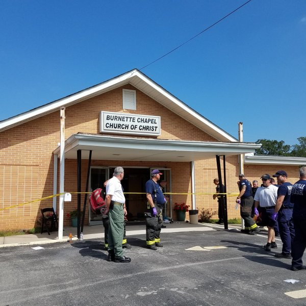 Authorities respond to the scene of a multiple-victim shooting at a church in Nashville on Sept. 24, 2017. (Credit: Nashville Police Department/Twitter)