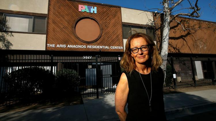 Kerry Morrison, executive director of the Hollywood Property Owners Alliance, is trying to find a new location to open a homeless shelter in the community. The area's only homeless shelter, above, closed last year. (Credit: Mel Melcon / Los Angeles Times)