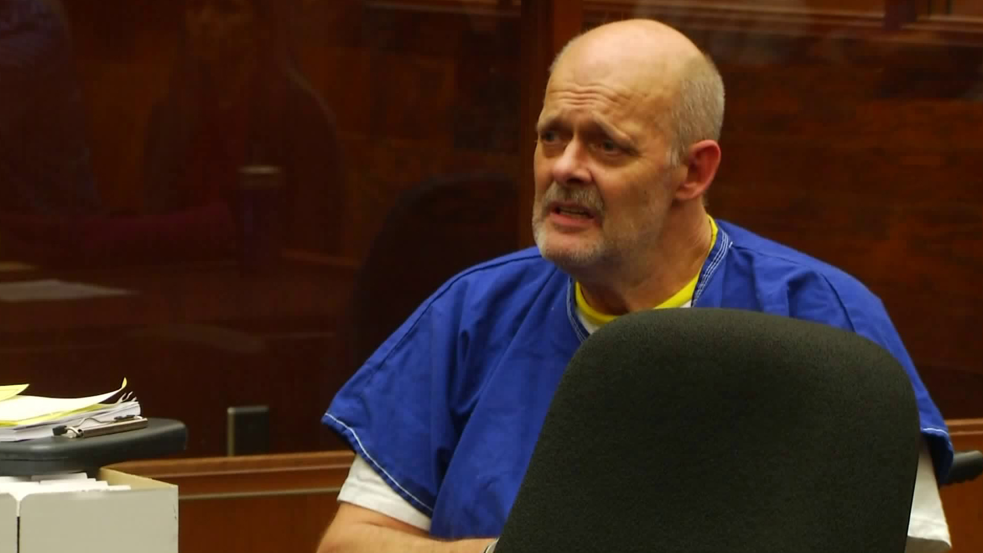 Bruce Paddock appears at his arraignment in downtown L.A. courtroom on Oct. 27, 2017. (Credit: KTLA)