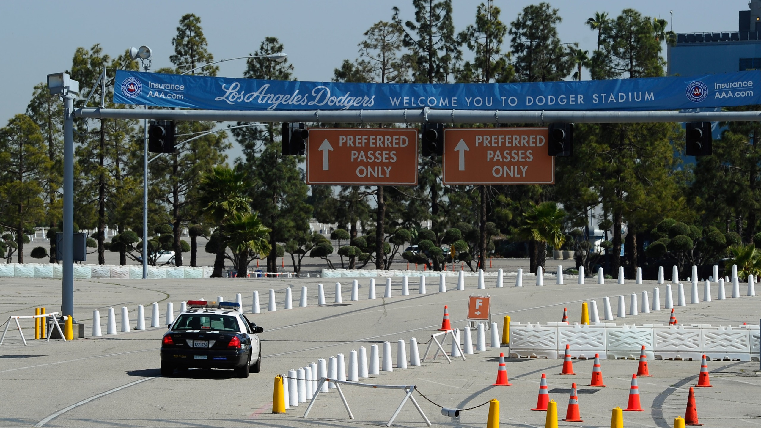 The parking lot at Dodger stadium is shown in this file photo. (Credit: Kevork Djansezian/Getty Images)