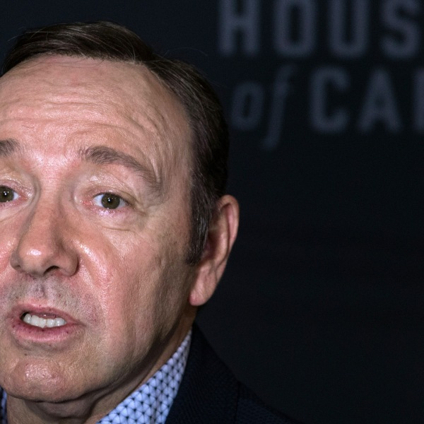 Kevin Spacey arrives at the season 4 premiere screening of the Netflix show 'House of Cards' in Washington, DC, on February 22, 2016. (Credit: NICHOLAS KAMM/AFP/Getty Images)