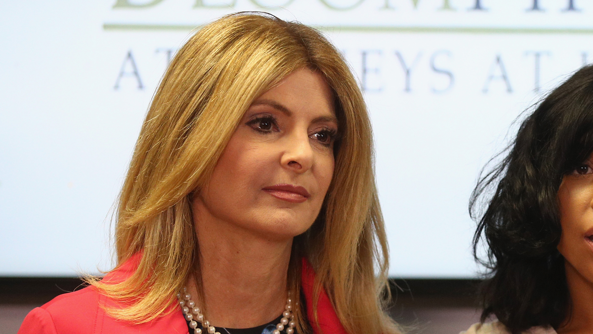 Attorney Lisa Bloom appears at a press conference on Sept. 20, 2017, in Woodland Hills, representing her client, Montia Sabbag, against accusations she is extorting comedian Kevin Hart. (Credit: Frederick M. Brown/Getty Images)