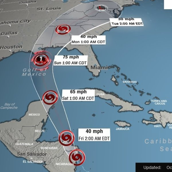Tropical Storm Nate poses weekend threat to Gulf Coast (Credit: CNN)