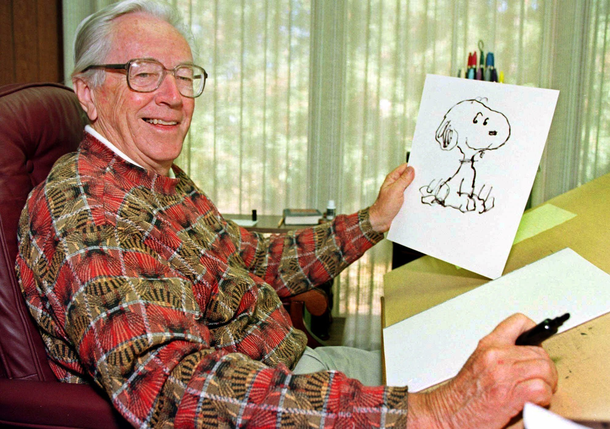 "The home of Charles Schulz, the creator of the ""Peanuts"" comic strip, was lost in the wildfires that are ravaging Northern California this week, his son Monte Schulz said. (Credit: Ben Margot / AP)"
