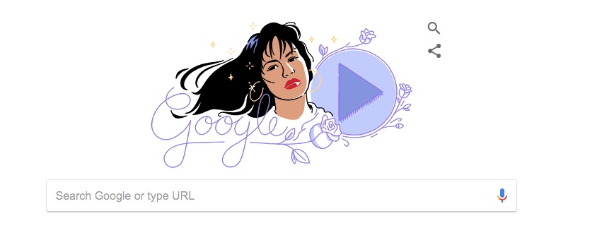 Google's Doodle on Oct. 17, 2017 commemorated the release of Selena's breakout solo record.