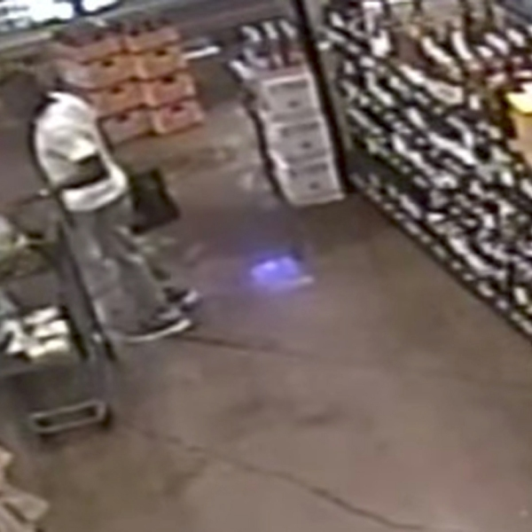 The suspect is seen in a still image from a surveillance video released by LAPD on Oct. 17, 2017.