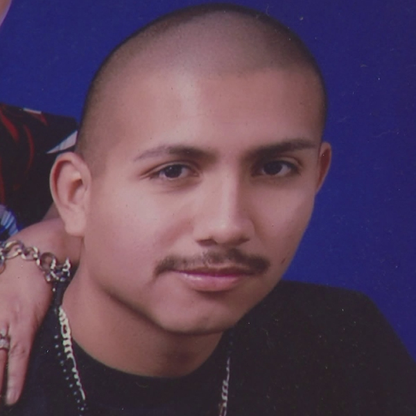 Victor Duenas Jr. is seen in a photo provided to KTLA.