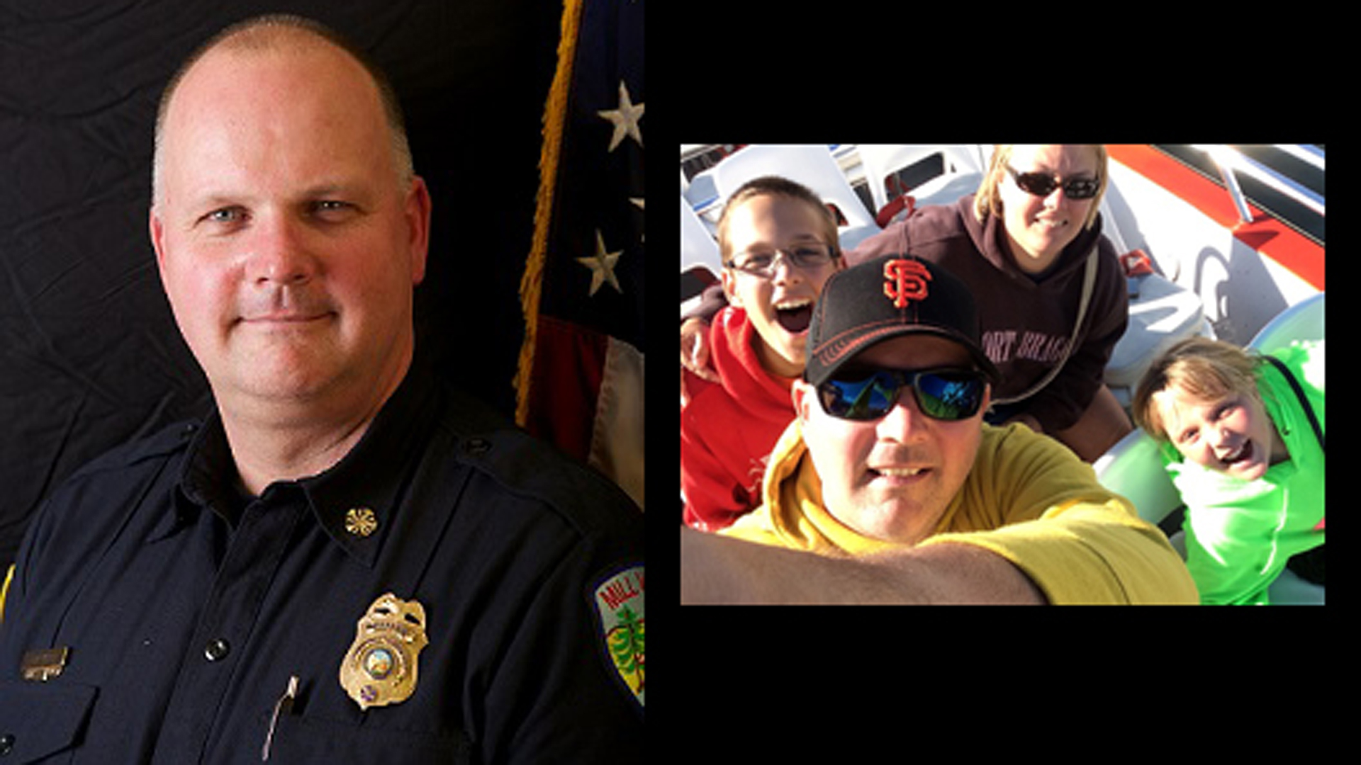 Fire Chief Tom Welch and his family are seen in a photo posted to the Mill Valley Fire Department's website.