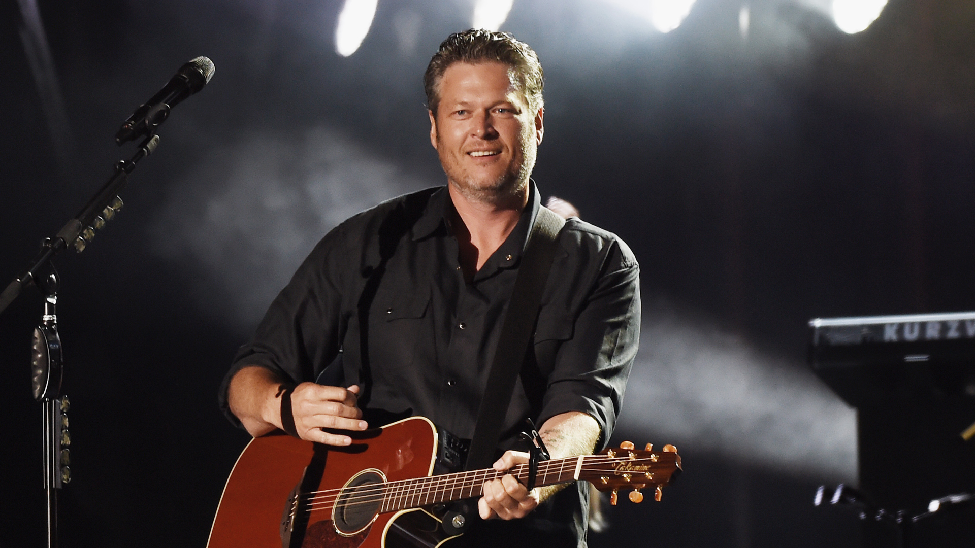 Blake Shelton performs during Happy Valley Jam 2017 in Beaver Stadium on the campus of Penn State University July 8, 2017 in State College, Pennsylvania. (Credit: Rick Diamond/Getty Images for Happy Valley Jam)