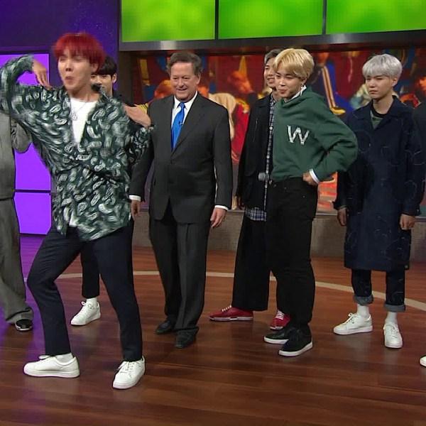 BTS dances on the KTLA Morning News on Nov. 16, 2017. (Credit: KTLA)