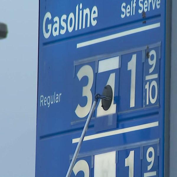 The gas tax rose in California on Nov. 1, 2017. (Credit: KTLA)