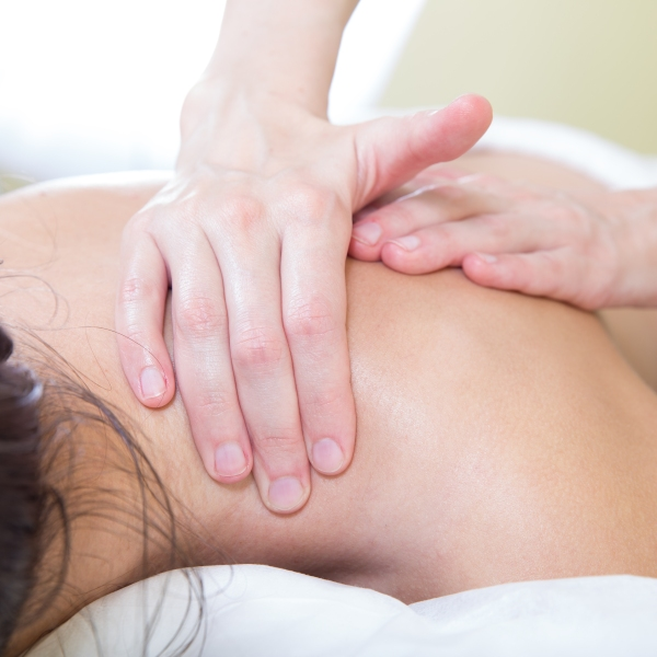 A shoulder and neck massage is seen in this file photo. (Credit: iStock / Getty Images Plus)