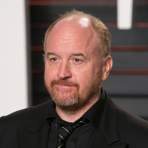 US comedian Louis C.K. poses as he arrives to the 2016 Vanity Fair Oscar Party in Beverly Hills, California on February 28, 2016. (Credit: ADRIAN SANCHEZ-GONZALEZ/AFP/Getty Images)