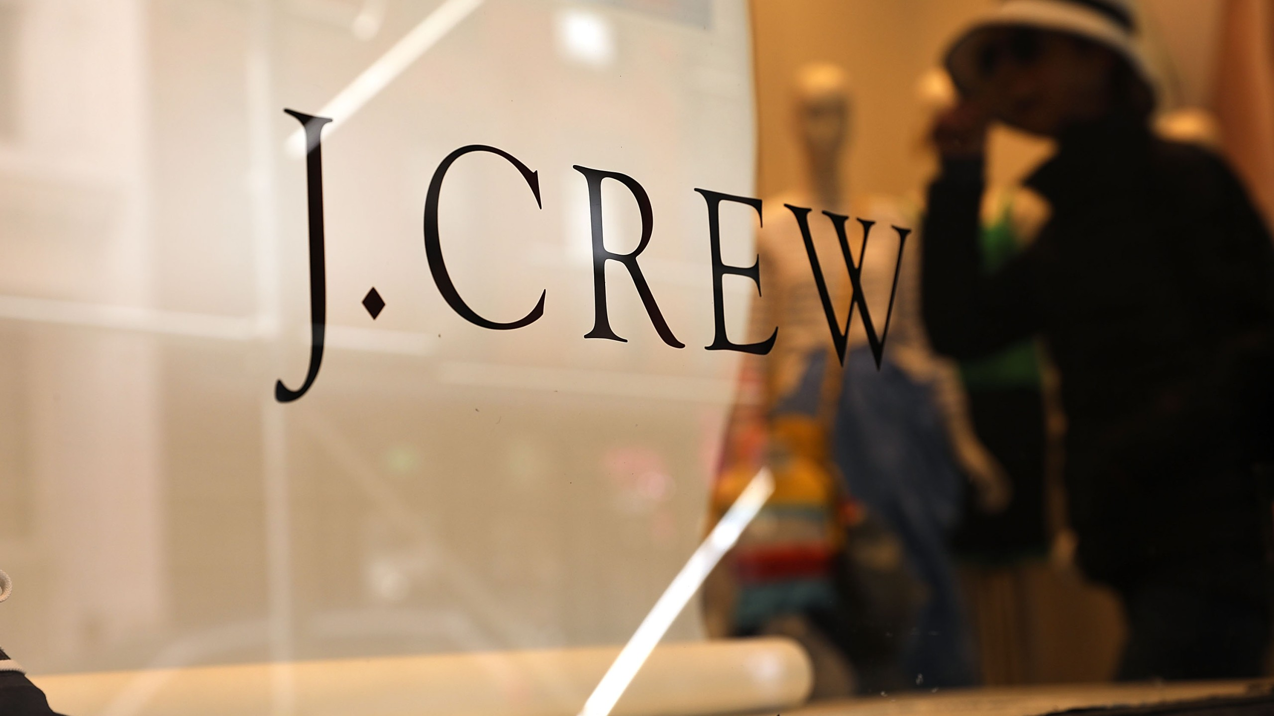 A J. Crew store stands in lower Manhattan on May 12, 2017 in New York City. (Credit: Spencer Platt/Getty Images)