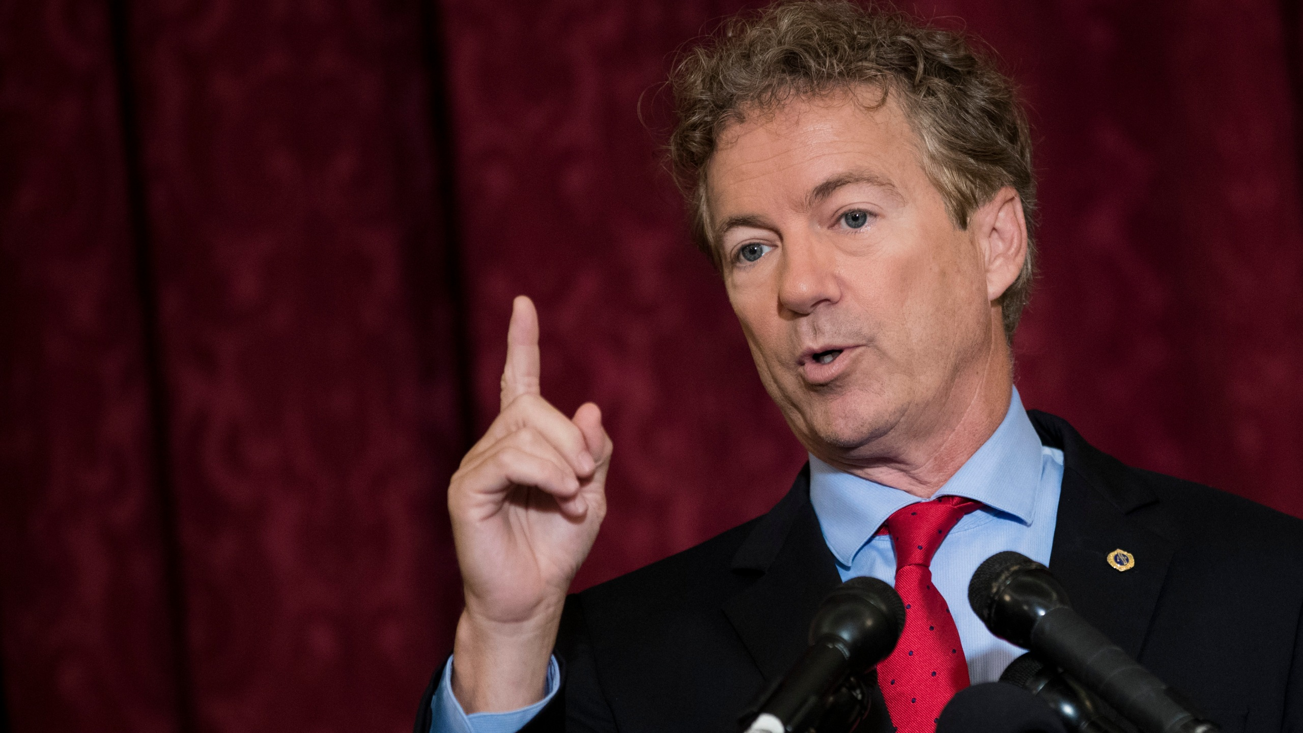 Sen. Rand Paul speaks during a press conference on Capitol Hill, Oct. 12, 2017. (Credit: Drew Angerer/Getty Images)