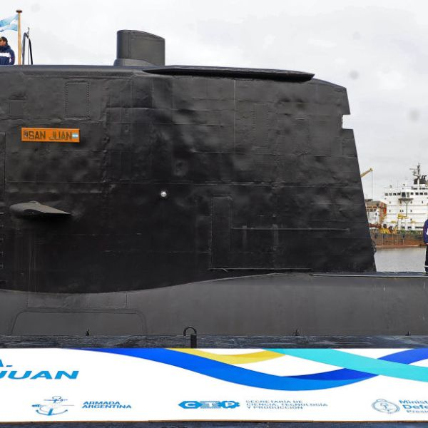 An Argentine submarine is missing after it lost communication. (Credit: ALEJANDRO MORITZ/AFP/Getty Images)