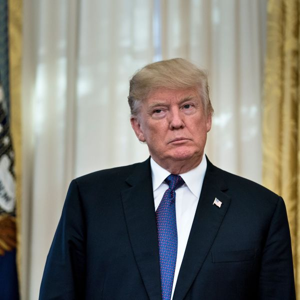 Donald Trump stands in the White House on Nov. 27, 2017. (Credit: BRENDAN SMIALOWSKI/AFP/Getty Images)