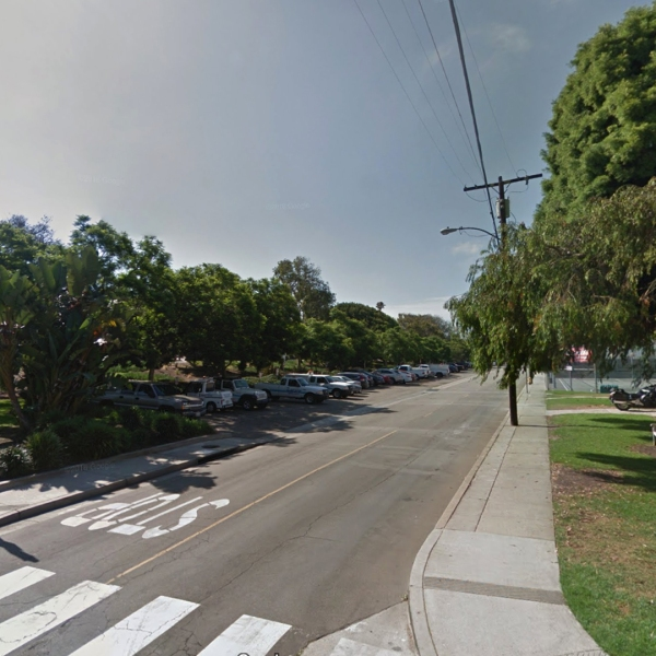 The intersection of Valley Drive and 11th Street in Hermosa Beach, where a farmer's market is usually held Fridays, is seen in a Google Maps Street View image from July 2016.