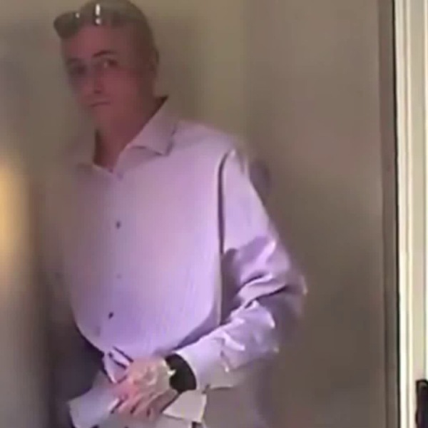 A man was caught on security camera taking a package from a Hancock Park home on Nov. 15, 2017.
