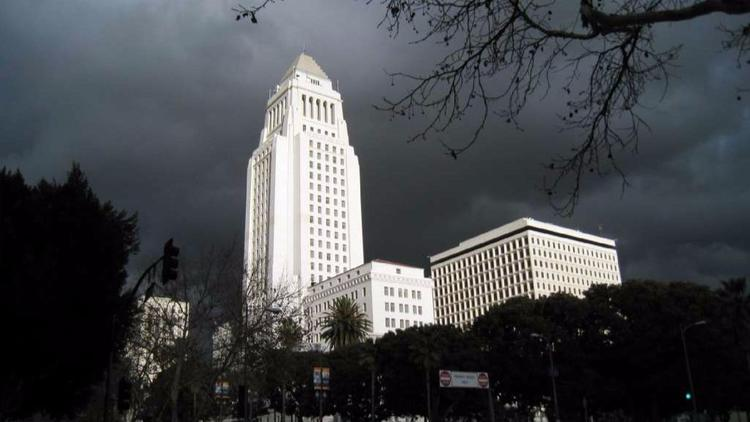 Los Angeles City Hall is seen in a file photo. (Credit: Bob Carey / Los Angeles Times)